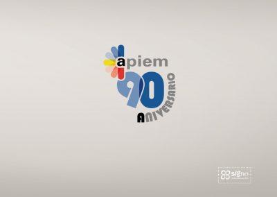 Apiem logotipo 90 aniversario